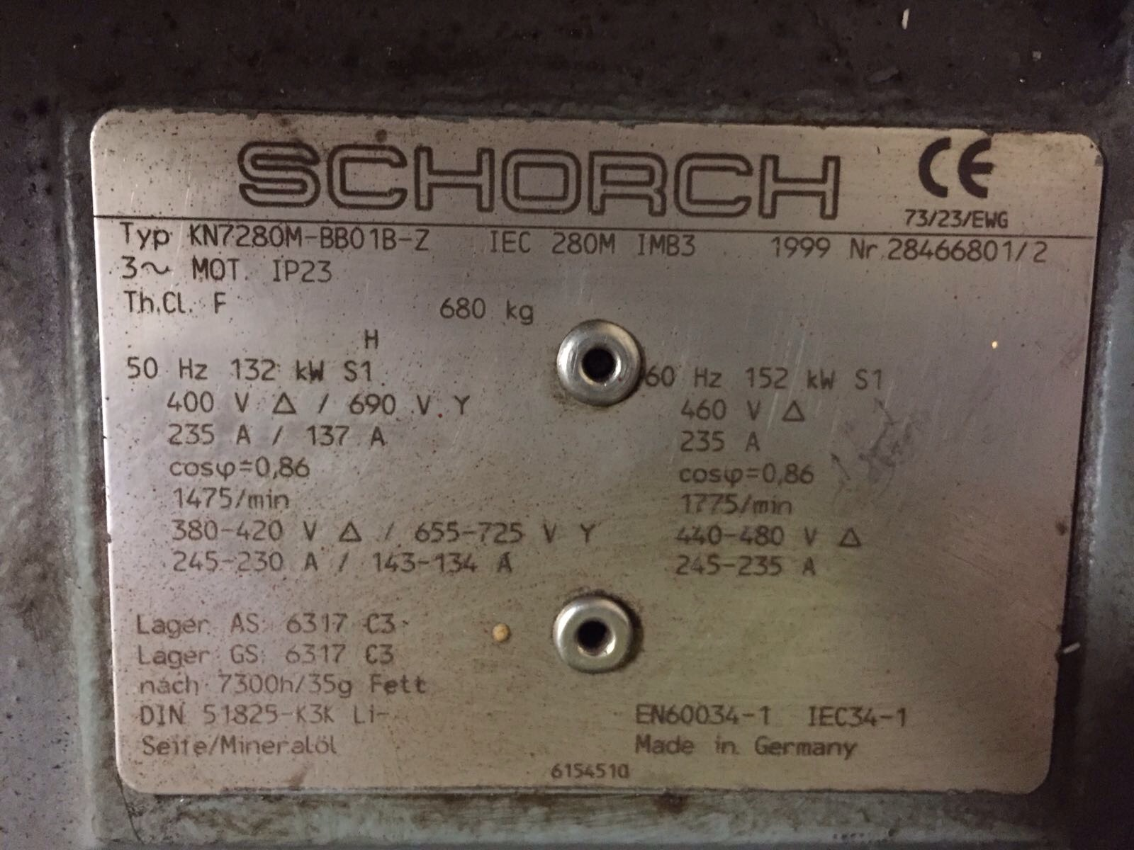 second hand compressor unit schorch