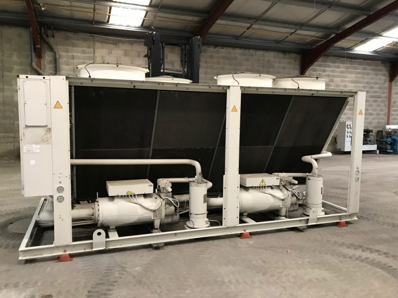 Used air cooled water chiller TRANE RTAD 125
